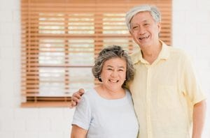 couple with healthy beautiful smile