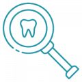 blue tooth with magnifying glass png