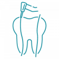 blue tooth with marker png
