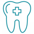 blue healthy tooth symbol png